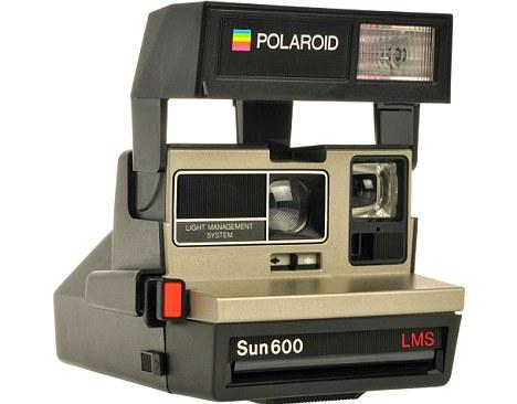original instant camera, the Polaroid Sun600