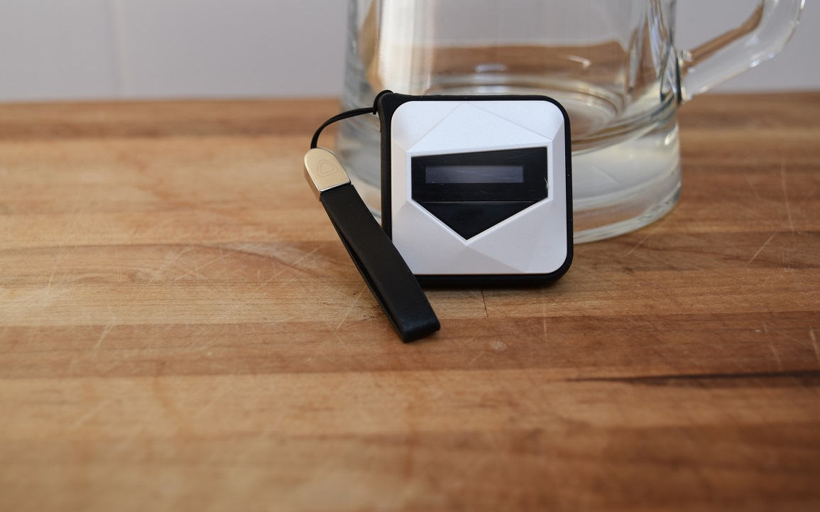 breathalyzer from WearSmith that is small, portable, and app connected