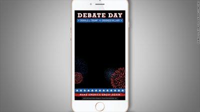 cnn trump debate snapchat filter snapmunk