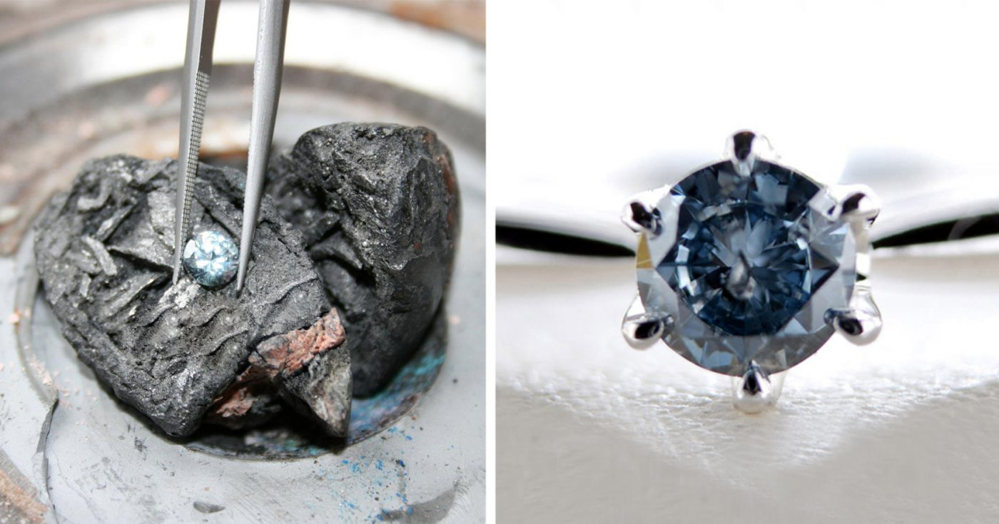 diamond made from the ashes of a loved one, an alternative to organic burial