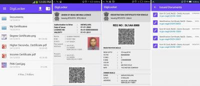 digilocker digital driver's license on smartphones