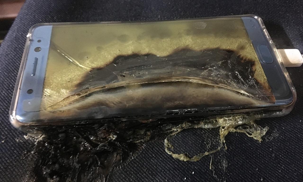 exploding smartphone battery