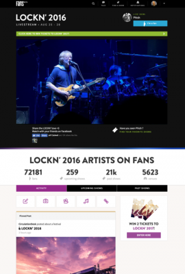 phish on FANS social media network for music