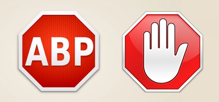 AdBlock Plus logo with a stop sign