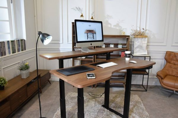 Gaze two-tiered smart standing desk