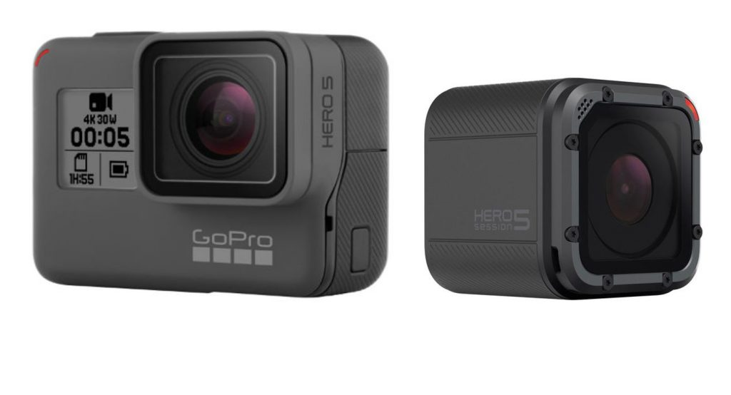 GoPro Hero 5 Black and Hero 5 Session
