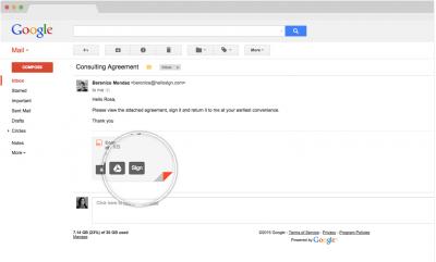 hellosign esignatures gmail integration