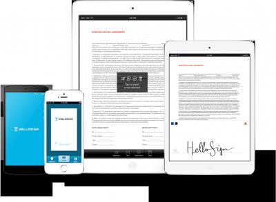 hellosign esignatures mobile signing