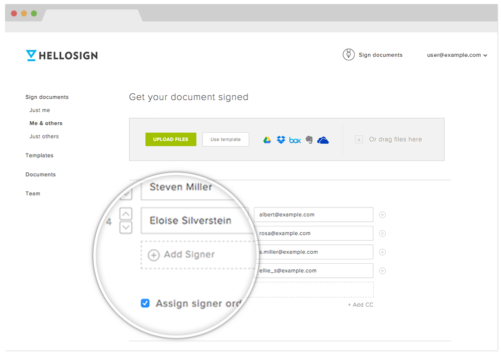 HelloSign eSignatures workflows
