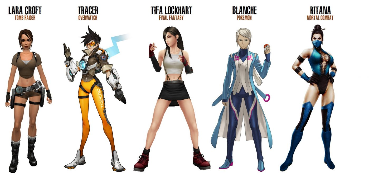 top 5 most searched female video game characters