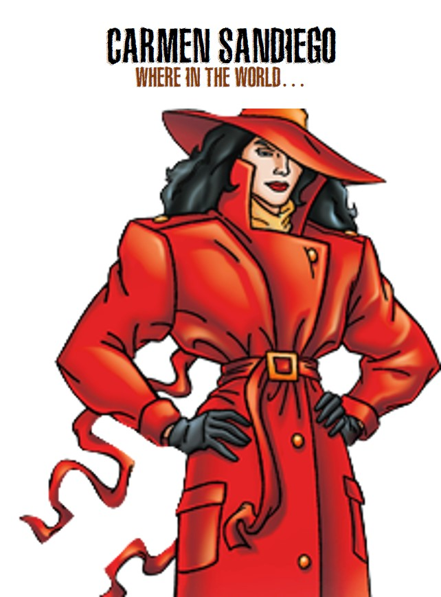 Carmen Sandiego, a hot female video game character