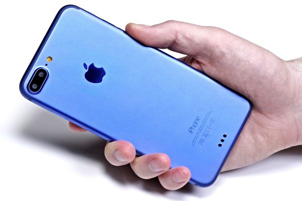 iPhone 7 held in woman's hand