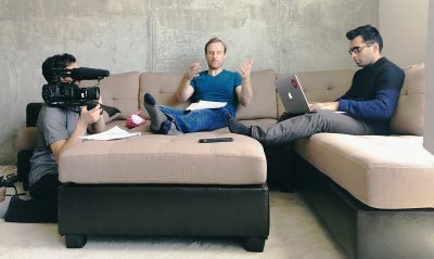 filming online courses with Jumpcut Academy staff