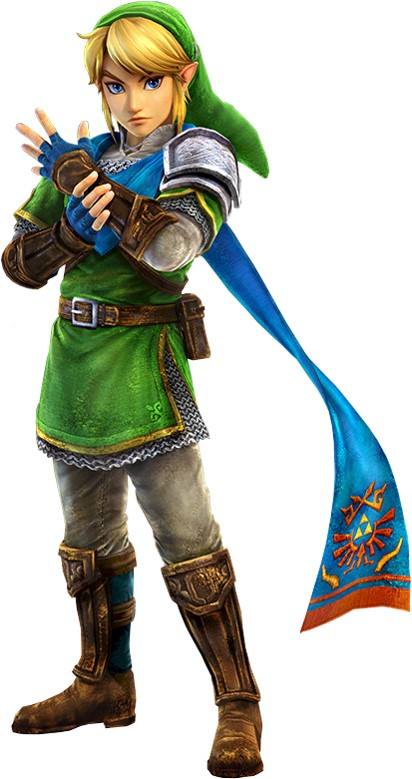 Link from Legend of Zelda as a clearly female video game character