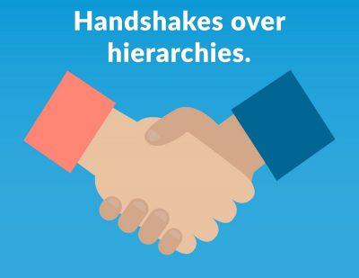 Simbi barter marketplace tagline handshakes over hierarchies