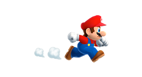 Super Mario running on a smartphone game announced at the Apple event