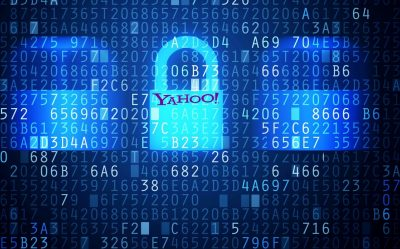 a padlock with Yahoo printed on representing the Yahoo hack