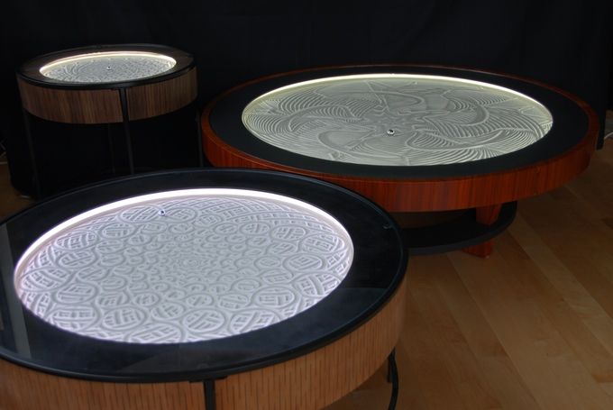 Sisyphus kinetic art tables