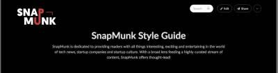 SnapMunk Style Guide   SnapMunk Style Guide and Slack