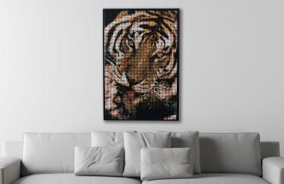 ColorWorks unique wall art of a tiger