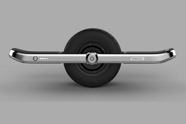 ATOM FLIYE electric skateboard/hoverboard with a fat middle tire