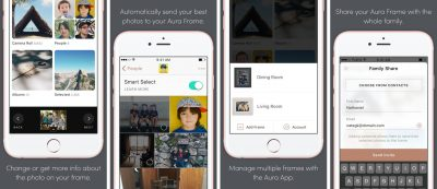 aura digital photo frame app screenshots