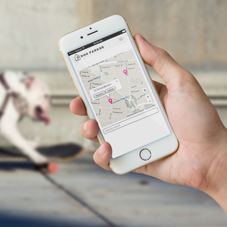 Dog Parker app for finding rental dog houses