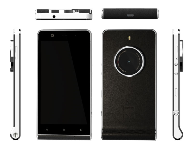 Kodak Ektra smartphone from all angles