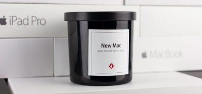 mac candle product shot