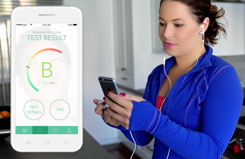 Mint oral hygiene breathalyzer app