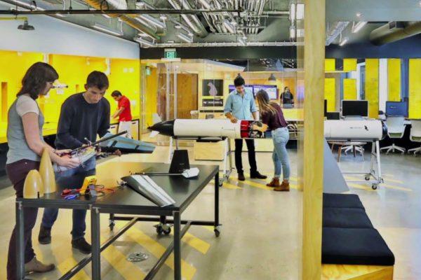 enterpreneurs working at MIT accelerator The Engine