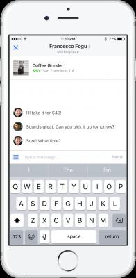negotiating facebook marketplace app