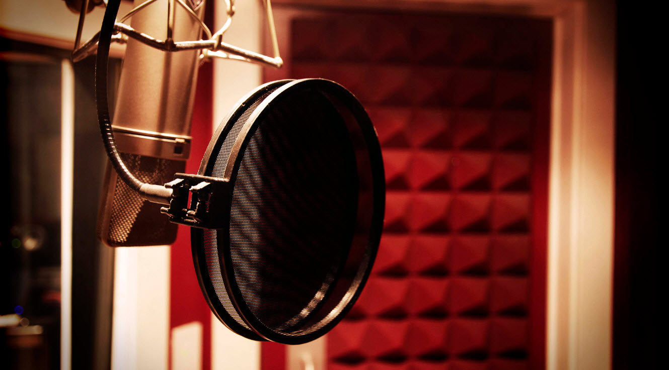 recording booth where video game voice actors work