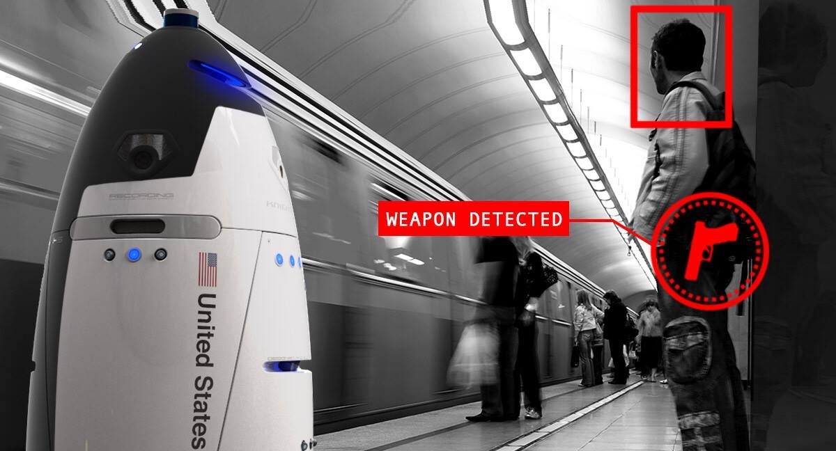 robot security guards detecting a weapon