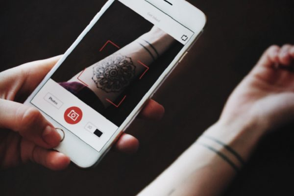 previewing tattoos with augmented reality app Inkhunter