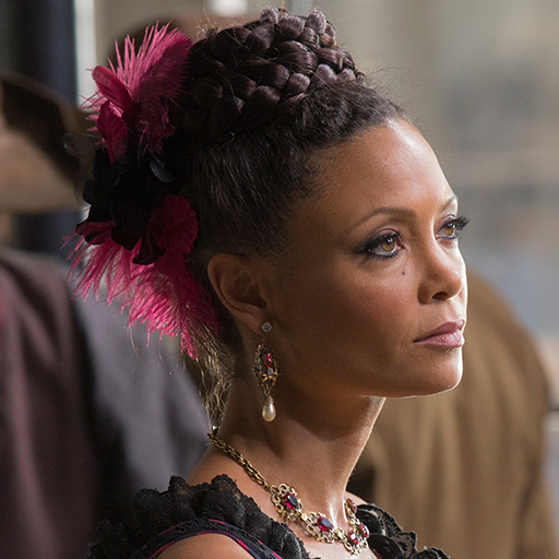 Thandie Newton plays Maeve on Westworld