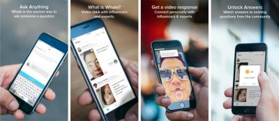 whale Q&A app ask celebrities and influencers