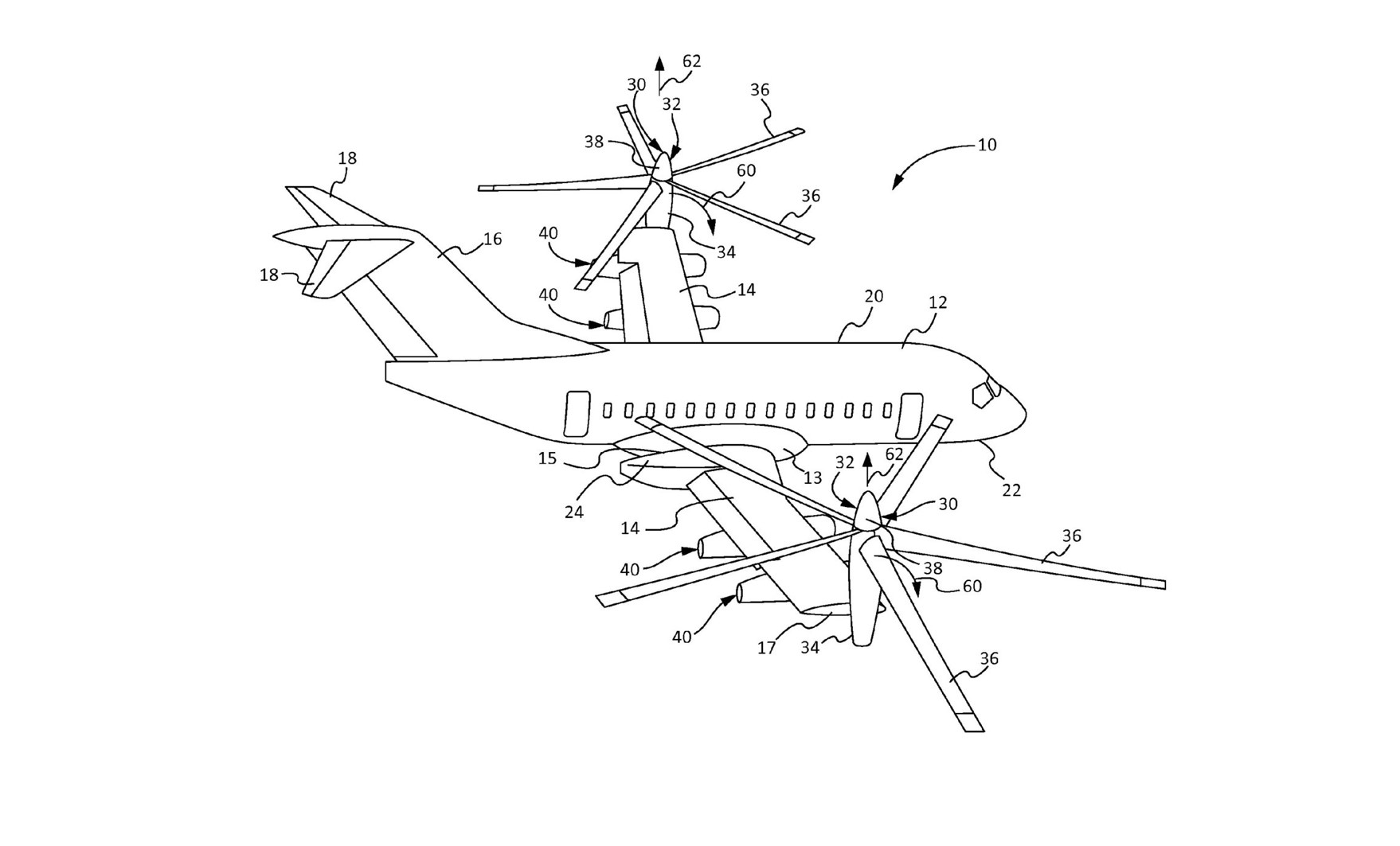 Finally Someone Patented A 100 Passenger Plane With Helicopter Take-Off