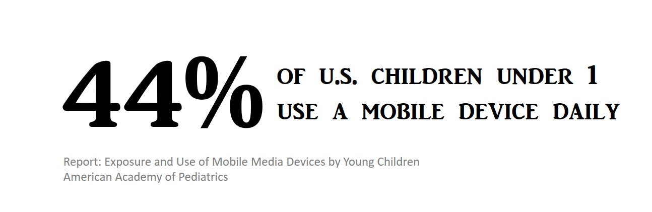44% of children under 1 use a mobile device daily