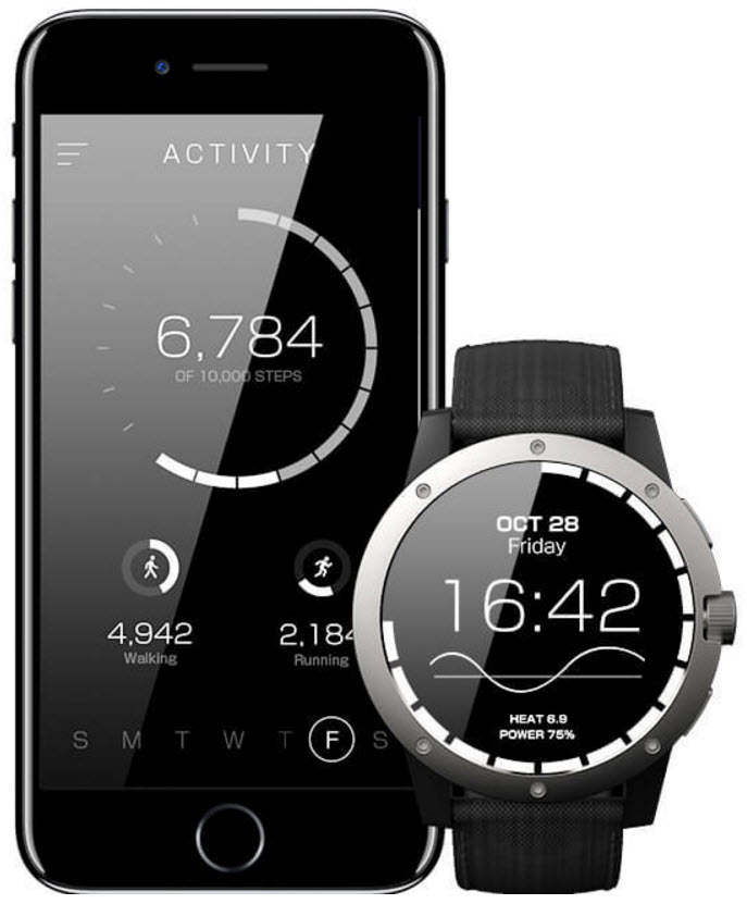matrix powerwatch smartwatch powered by body heat