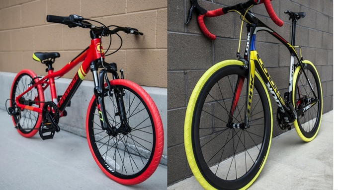 Nexo bike tires in different colors