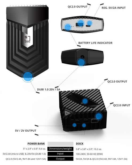 SIMPIZ charger and dock