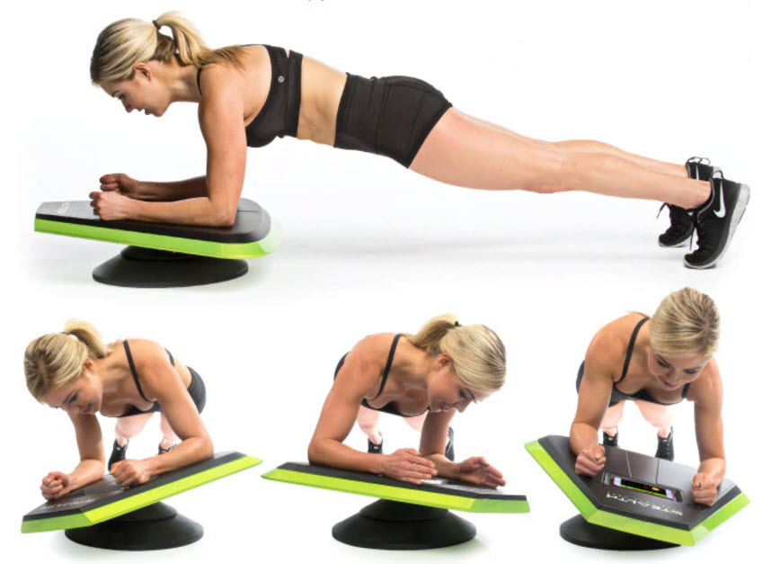 woman playing Stealth ab exercise game