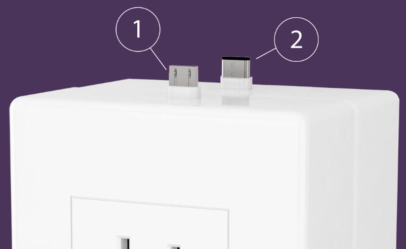 thingCHARGER smartphone chargers with jacks on top