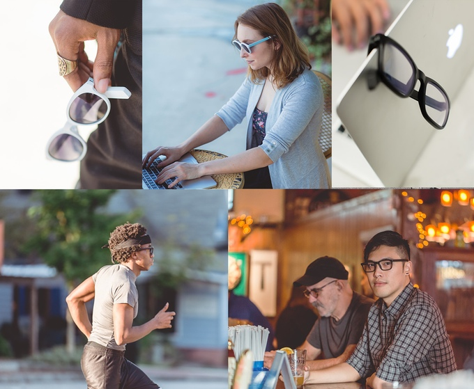 vue stylish smart glasses on kickstarter