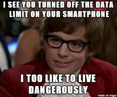 austin powers data limit meme