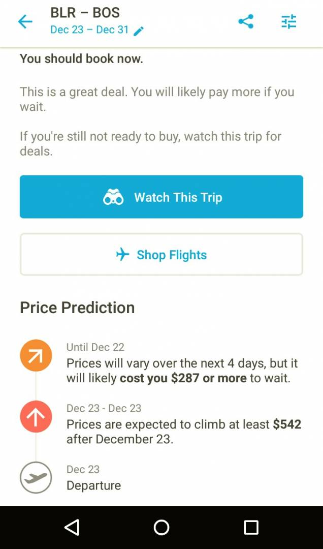 Hopper app predicts airfare price variations