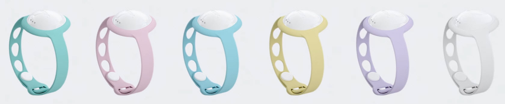 neebo baby wearable monitor color options