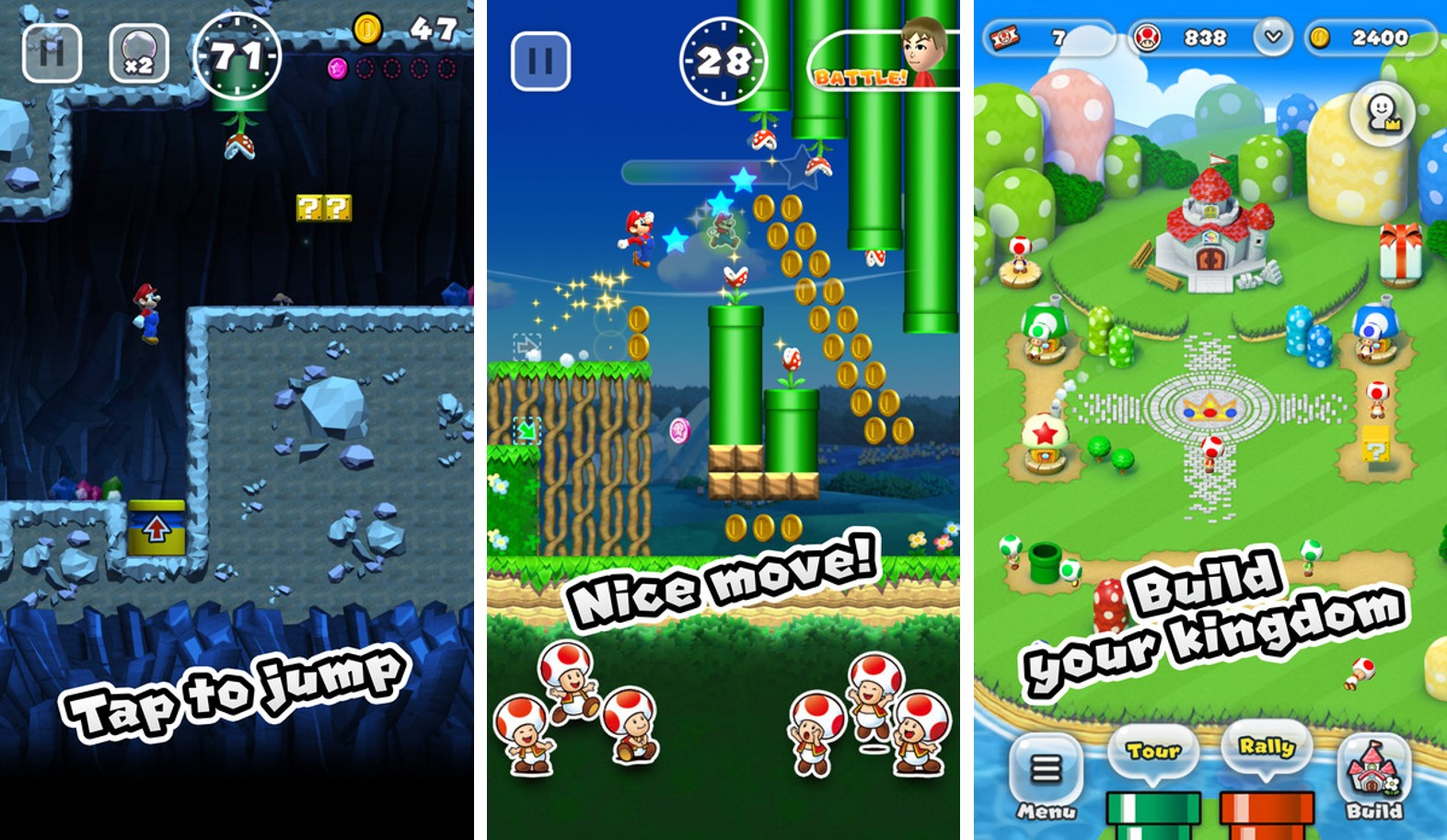 super mario run iphone screenshots