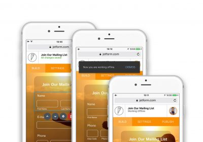 jotform mobile and offline functionality